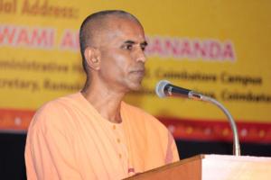 Swami Garishthanandaji, The Secretary of Ramakrishna Mission Vidyalaya, Coimbatore